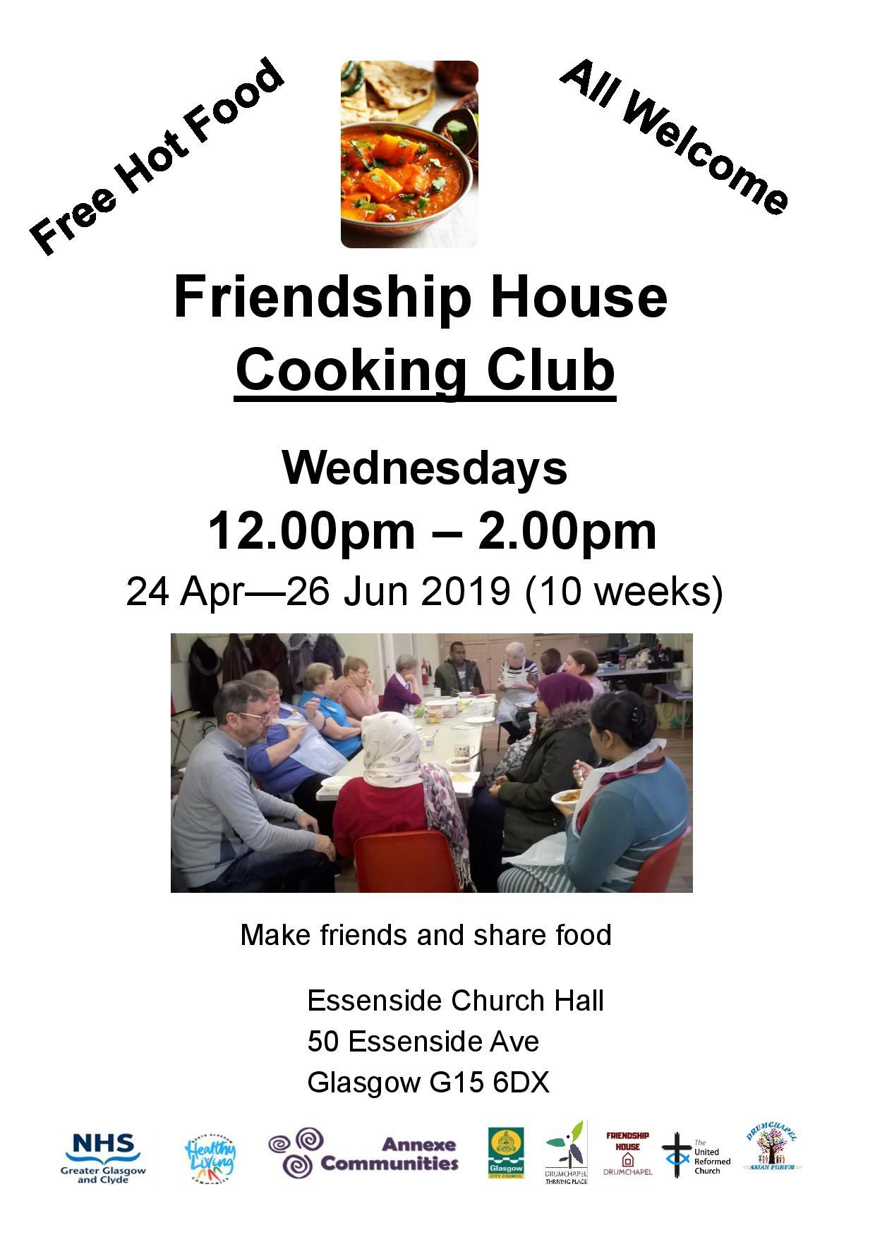 Friendship House Cooking Club April 2019